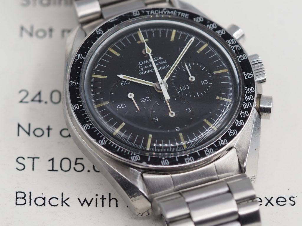 Omega Speedmaster Ref. 105.012-65, Kaliber 321, mit Extract aus 1966