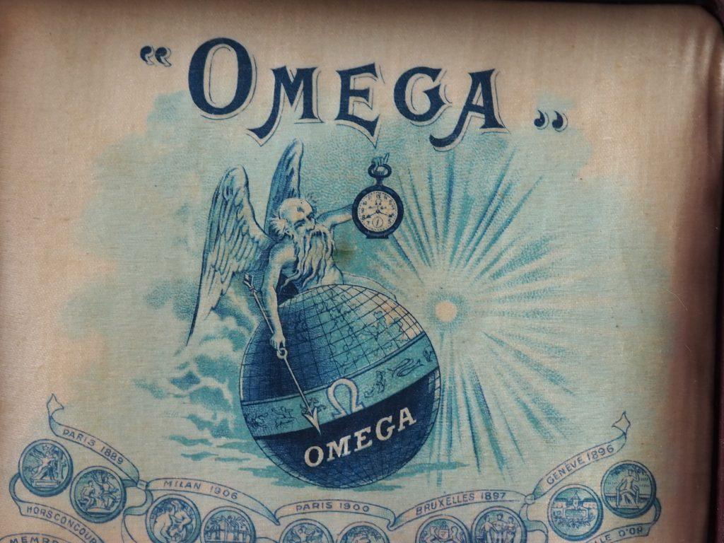Omega Taschenuhr-Box aus ca.1905