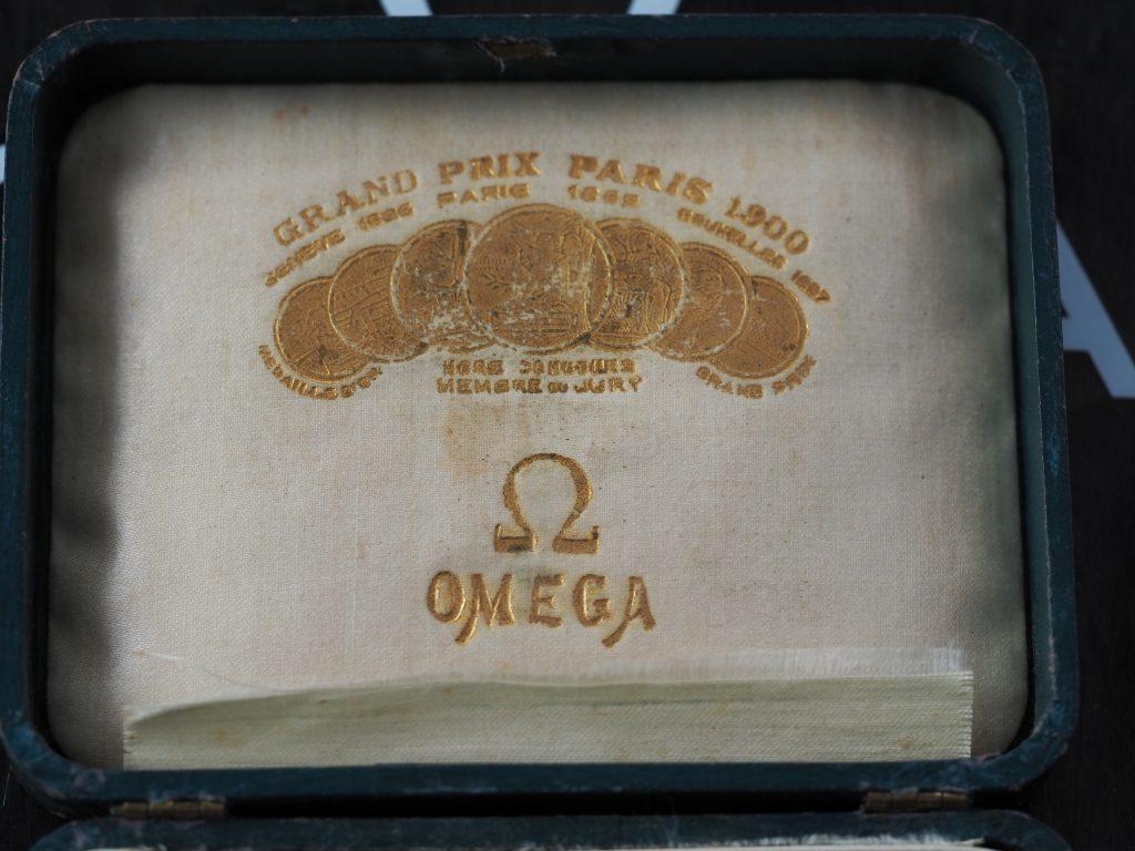 Omega Taschenuhr-Box aus ca. 1920