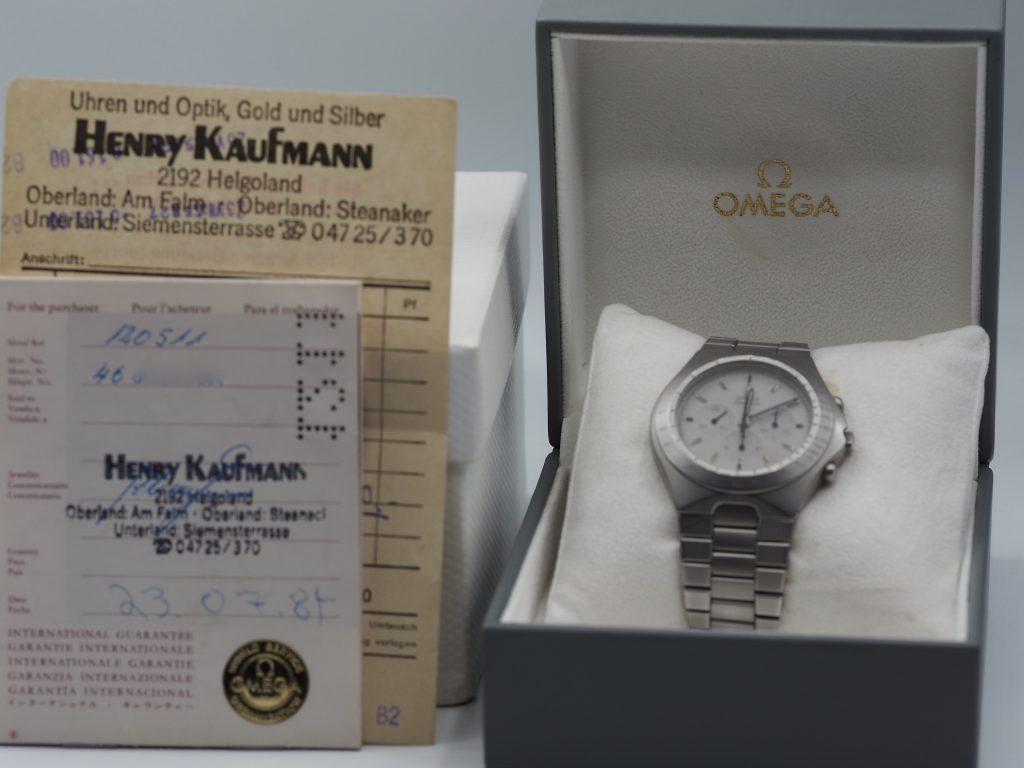 Omega Speedmaster Ref. ST345.0803 auf Basis 145.0040, deutscher Markt, Kaliber 861, Teutonic, Full Set 1984
