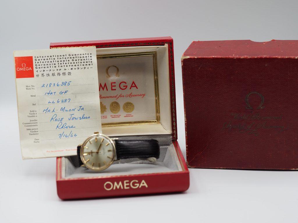 Omega Seamaster DeVille, 14K GF, Ref. LL6287 aus 1966, Full Set