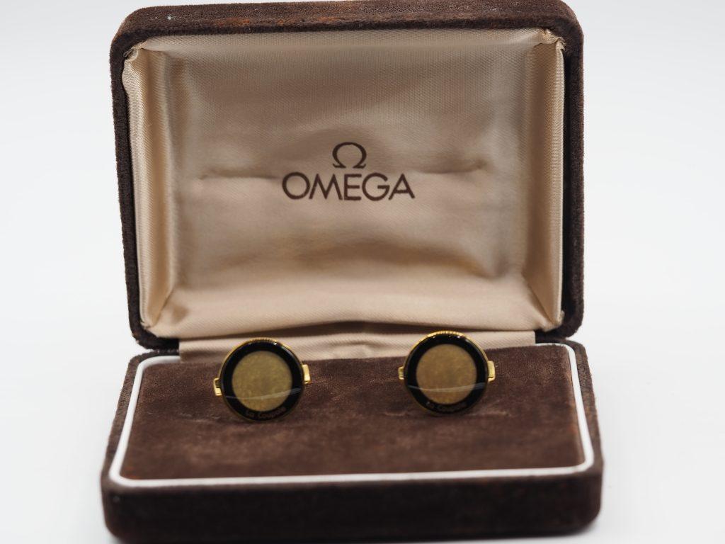 "Omega Manschettenknöpfe ""La Coupole"" aus ca.1970"