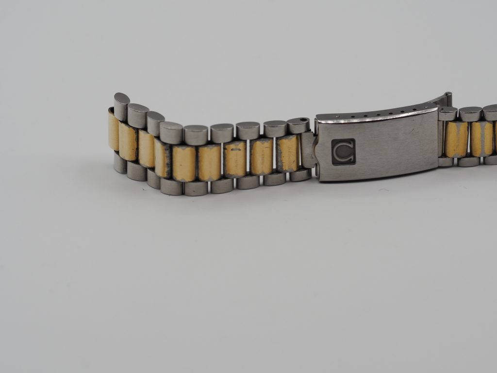 Omega Armband 1125/756, Farbe:Stahl/gold, 19mm