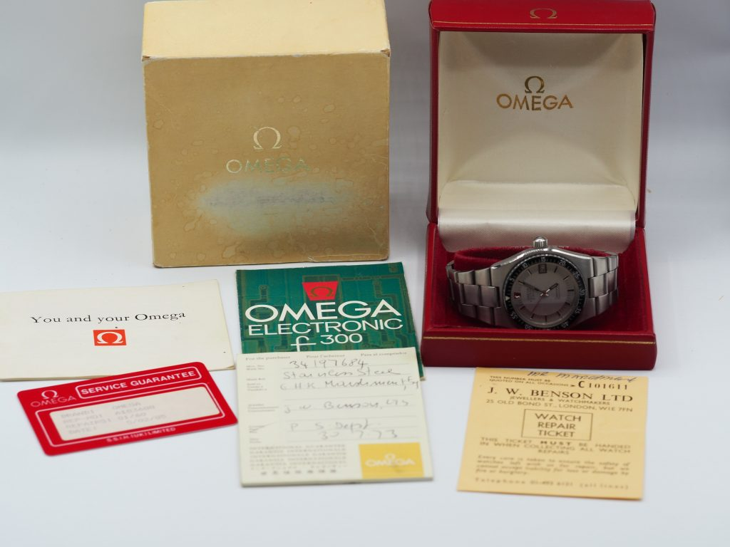 Omega Electronic f300Hz, Seamaster Chronometer Ref. 198.0005, Kaliber 1250, Full Set aus 1973