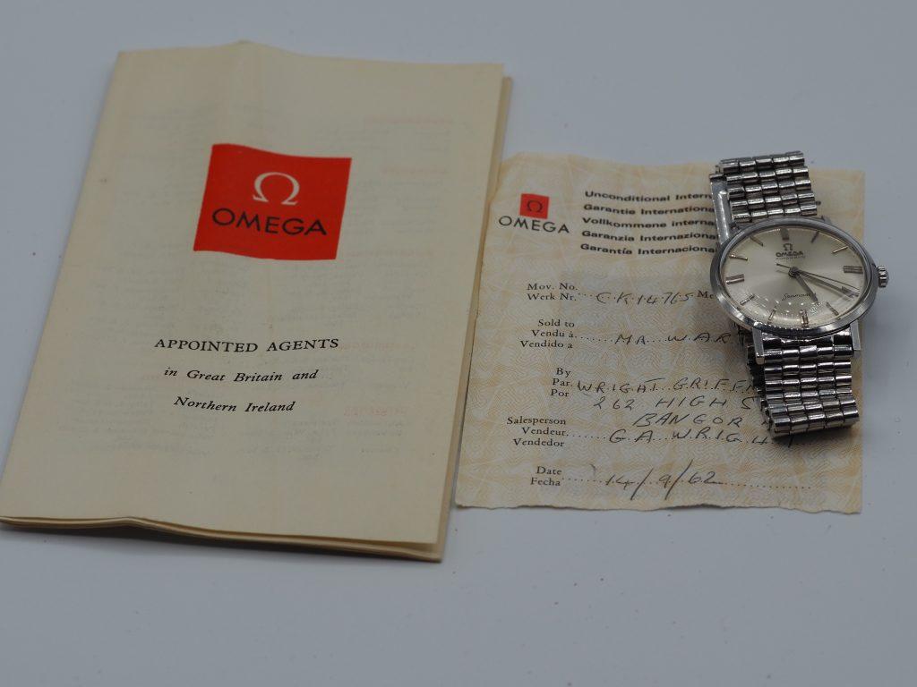 Omega Seamaster Ref. CK14765 mit Papieren von 1962