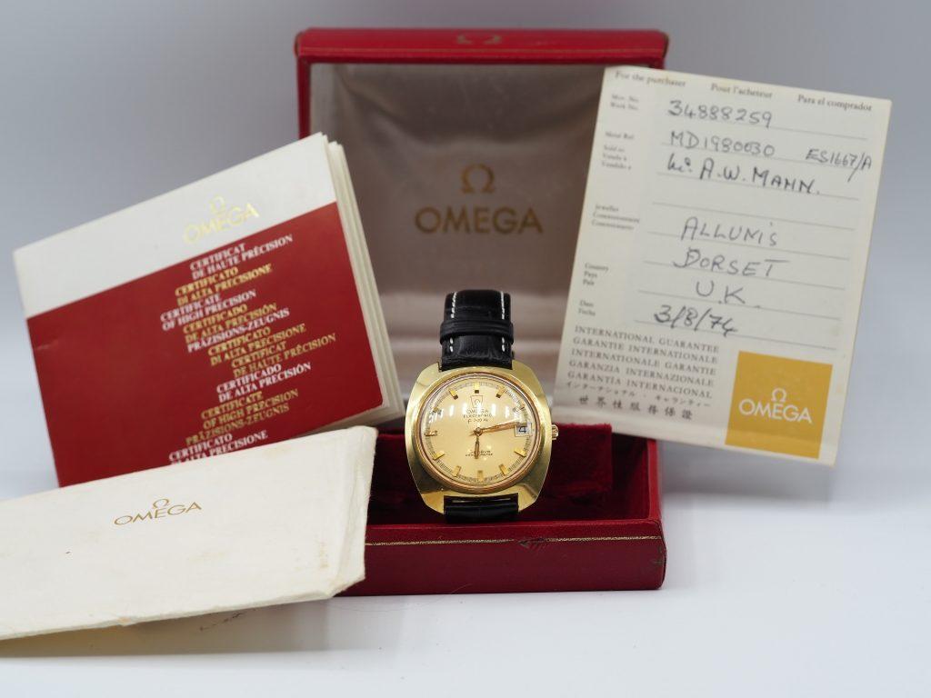 Omega Electronic f300Hz Genève Chronometer Ref. 198.030 aus 1974