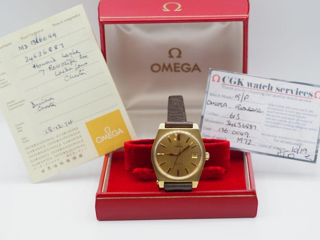 Omega Genève Ref. 1360049, Kaliber 613, Full Set aus 1974