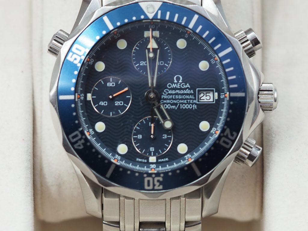 Omega Seamaster Diver Chronograph Chronometer Ref. 2599.8000, Full Set aus 1997