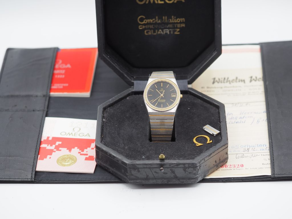 Omega Constellation Chronometer Ref. 198.0129/ 398.0858,  Kaliber 1333, Stahl/Gold 18K, Full Set aus 1981
