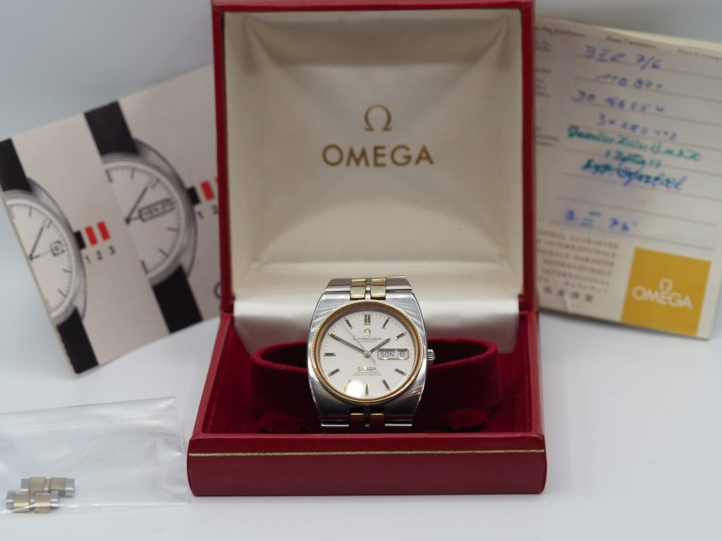 Omega Constellation Chronometer Ref. 168.0054 Stahl/ Gold, Kaliber 1021, Full Set aus 1975