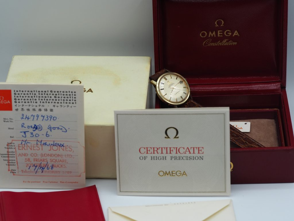 Omega Constellation Chronometer Ref. 168.010, Kaliber 564, Full Set aus 1968